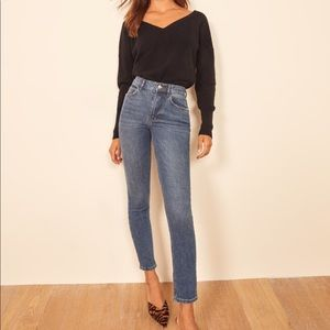 NWT REFORMATION High & Skinny Crop Jeans